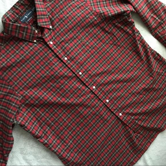c364760b Ralph Lauren Classic Fit Holiday Plaid Shirt